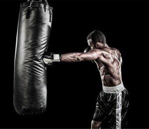 Entrainement de boxe d'un athlète