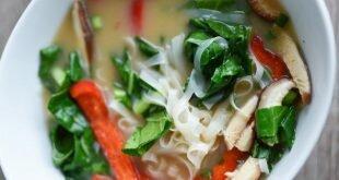 Soupe miso vegan aux nouilles de riz men 39 s fitness magazine - Soupe miso ingredient ...